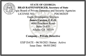 How to get a Georgia Private Investigator Licensing